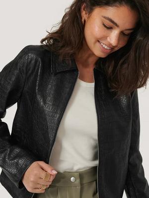 Куртка черная с анималистическим узором   5787840