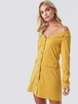 Платье желтое   5788334