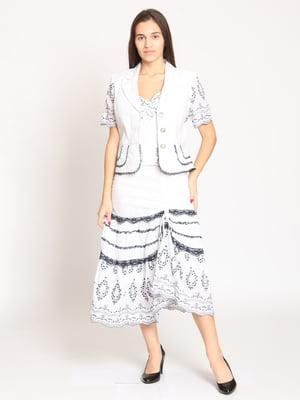 Костюм: жакет, блуза і спідниця | 4399225