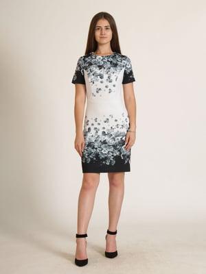 Сукня біла в квітковий принт   5794268