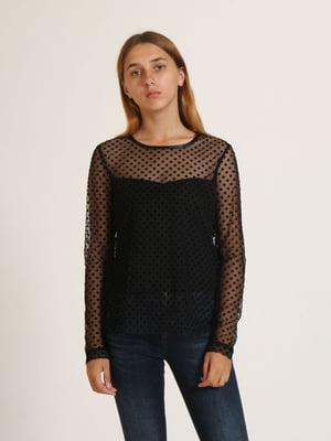 Блуза чорна в горошок   5796014
