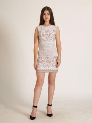 Сукня бежева з орнаментом   5796023