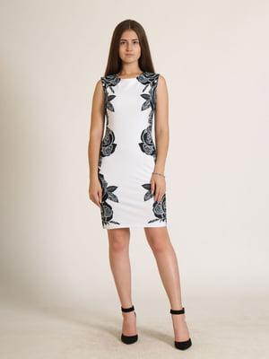 Сукня біла з квітковим малюнком   5796024