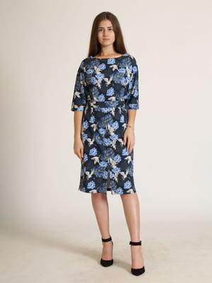 Сукня комбінованого кольору в квітковий принт   5796026