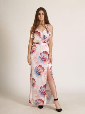 Сарафан комбінованого кольору в квітковий принт   5797018