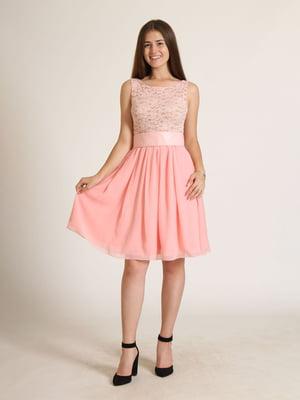 Сукня рожева з візерунком   5797092