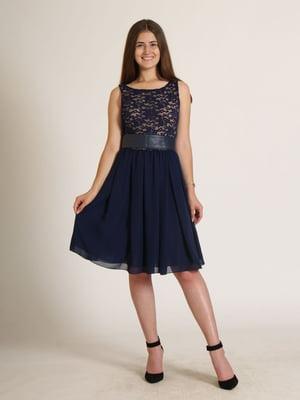 Сукня синя з візерунком   5797094
