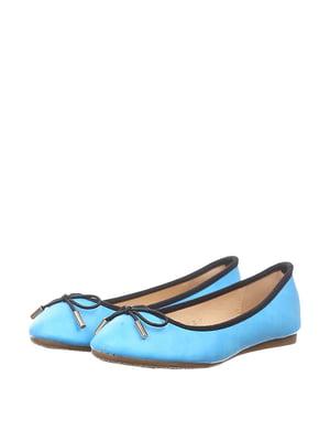 Балетки голубые | 4383480