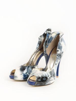 Туфлі сині в принт | 5789182