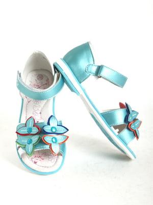 Сандалии голубые   5792427