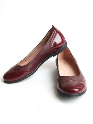Туфли бордовые   5791561