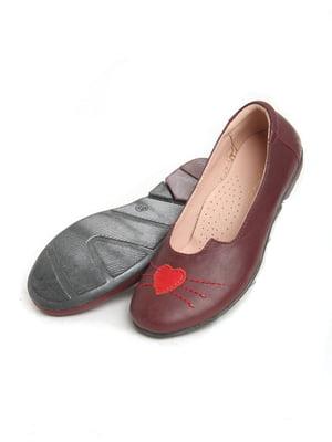 Туфли бордовые   5792519