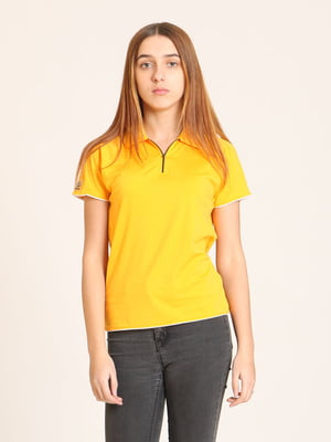 Футболка-поло желтая | 4399299