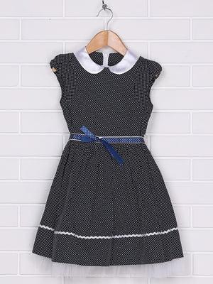 Платье темно-синее | 4892337
