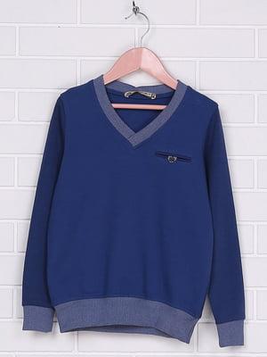 Пуловер синий | 4892426