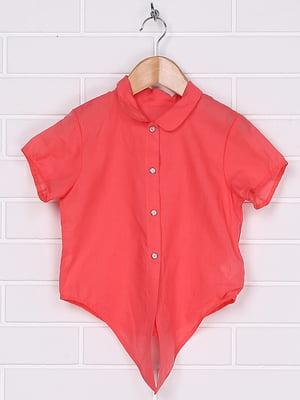 Блуза-сорочка коралового кольору   4892432