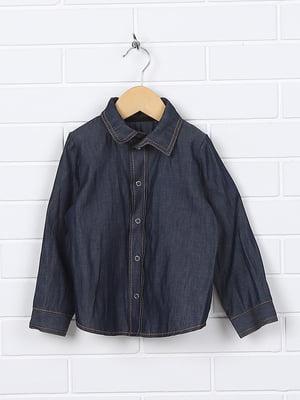 Рубашка темно-синяя | 4892667