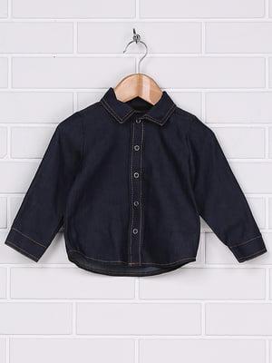 Рубашка темно-синяя | 4892744