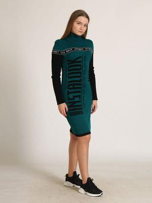 Сукня комбінованого кольору в принт   5789846