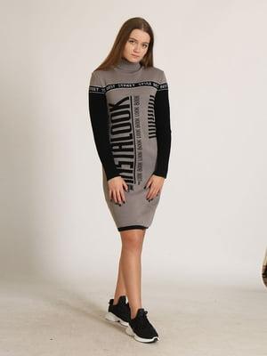 Сукня комбінованого кольору в принт   5789884