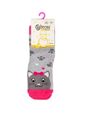 Носки комбинированного цвета в принт | 5790265