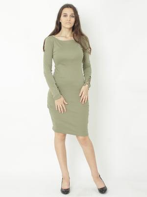 Сукня кольору хакі   5792871