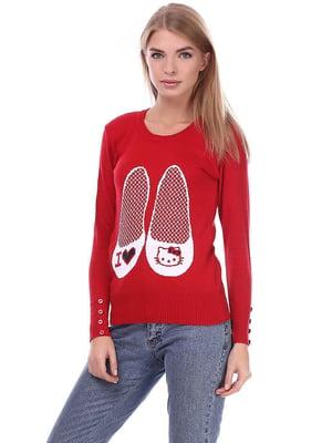 Джемпер червоний з малюнком   5793006