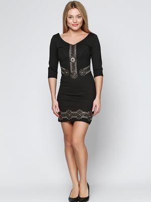 Сукня чорна з малюнком | 5793279