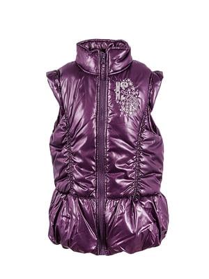 Жилет фиолетовый с декором-рисунком   5796050