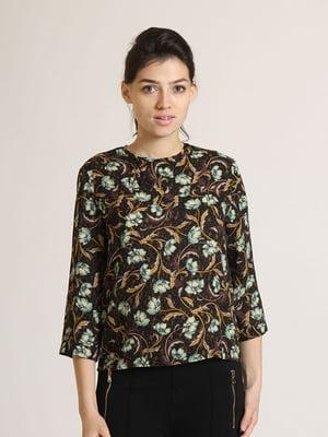 Блуза комбінованого кольору в квітковий принт   5796388