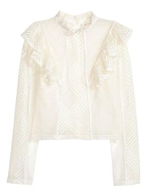Блуза молочного кольору з візерунком | 5799249