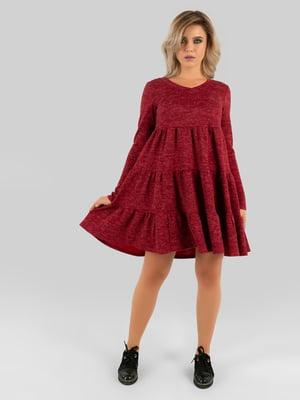 Платье бордовое   5799657