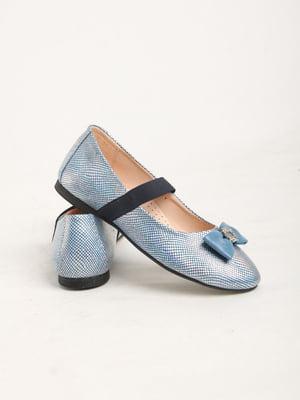 Балетки голубые   5791981