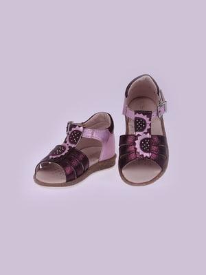 Босоножки фиолетовые   5792611