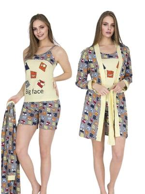 Комплект: майка, шорты и халат   5800427