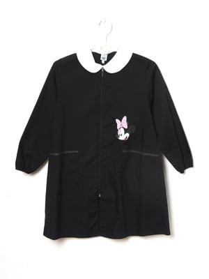 Платье черное с рисунком | 5790836