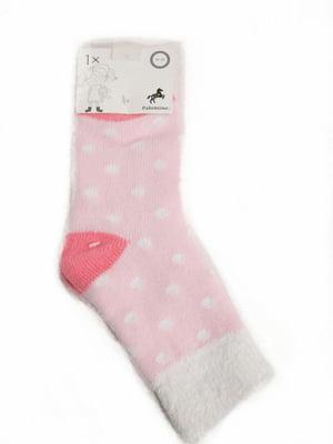 Носки розовые в горошек   5791891