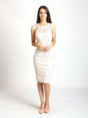 Сукня бежева з візерунком   5796090