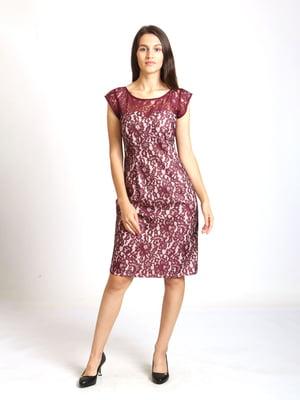 Сукня бежева з візерунком | 5796115