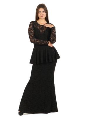 Платье черное с узором | 5796375