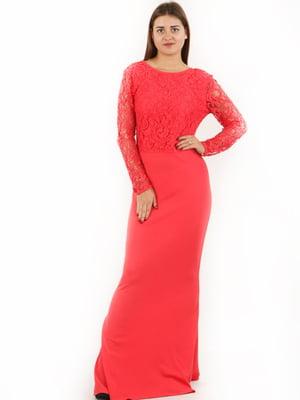 Платье кораллового цвета | 5797342