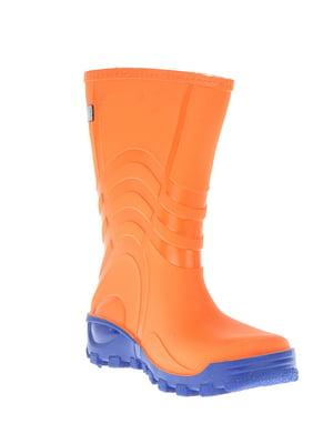Сапоги резиновые оранжевого цвета | 5800864