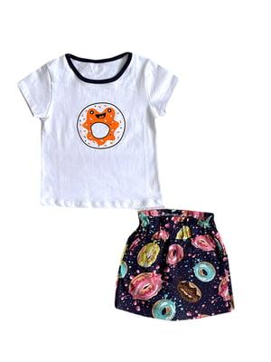 Комплект: футболка і спідниця-шорти | 5801467