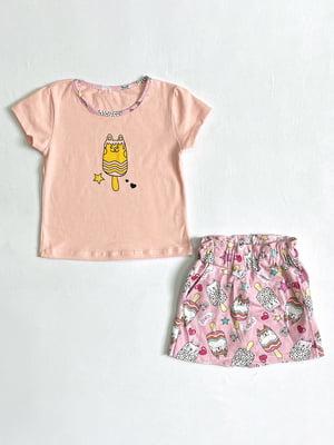 Комплект: футболка і спідниця-шорти | 5801463
