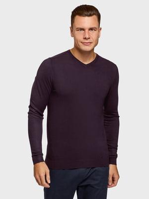 Пуловер темно-фиолетовый | 5802214