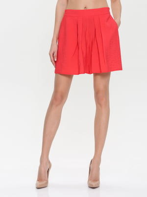 Юбка-шорты кораллового цвета   5357849