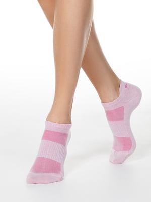 Носки розовые в полоску | 5698788