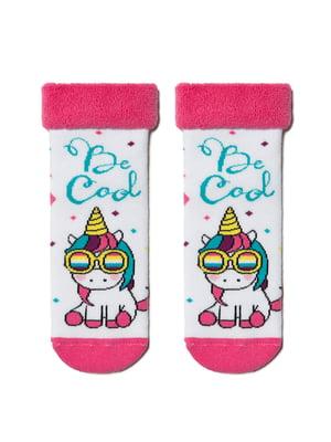 Шкарпетки комбінованого кольору в принт | 5699244