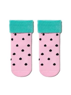 Шкарпетки рожеві в горошок | 5699249