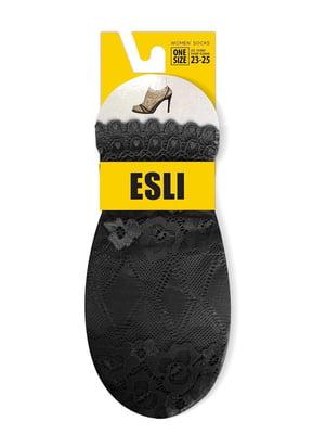 Носки черные с узором | 5699500